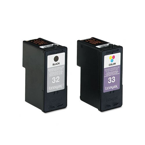 Lexmark International 18C0532 (32, 33) Ink Cartridge, 2/Pack