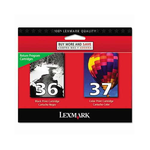 Lexmark International Ink Cartridge, 175 Page-Yield, 2/Pack