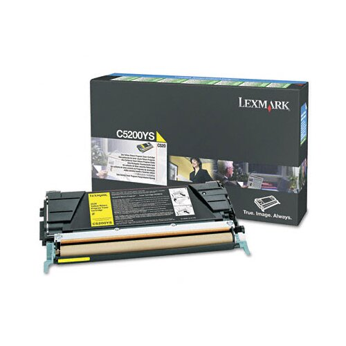 Lexmark International C5200YS Toner Cartridge, 1500 Page-Yield