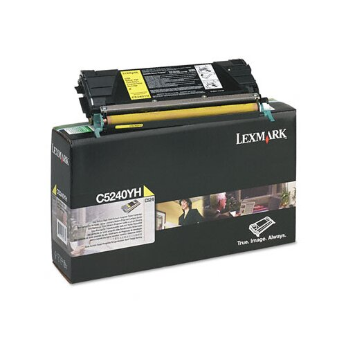 Lexmark International C5240YH High-Yield Toner, 5000 Page-Yield