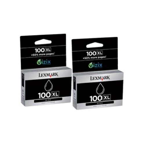 Lexmark International 14N0683 100Xl High-Yield Ink Cartridge, 2/Pack