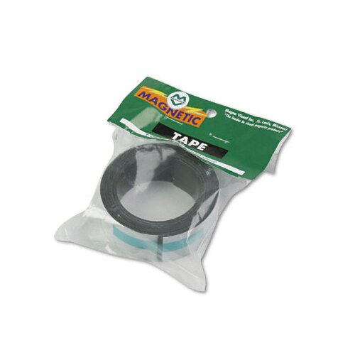 "Magna Visual, Inc. Magnetic/Adhesive Tape, 1"" x 4-ft Roll"