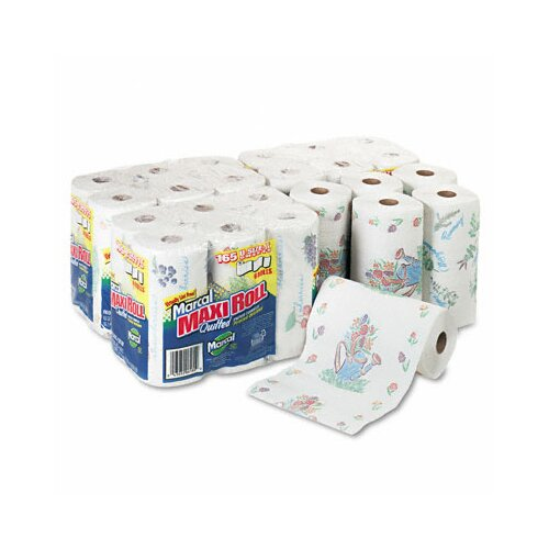 Marcal Paper Mills, Inc. Small Steps 100% Premium Recycled Giant 2-Ply Paper Towels - 140 Sheets per Roll / 24 Rolls