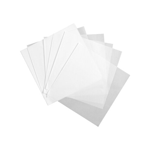 15 x 15 Deliwrap Dry Waxed Paper Flat Sheets in White