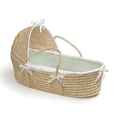 Badger Basket Hooded Moses Basket with Waffle Bedding