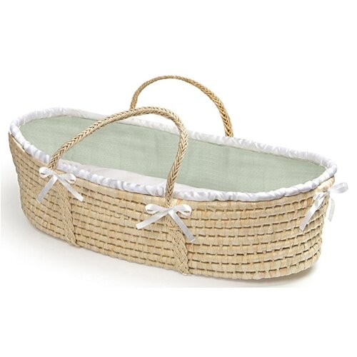 Moses Basket with Waffle Bedding