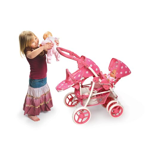 Badger Basket Reversible Double Doll Stroller