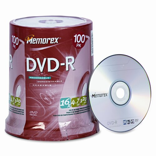 Memorex DVD - R Discs, 100/Pack