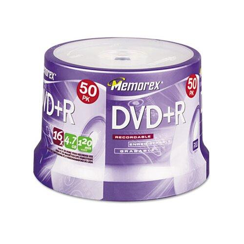 Memorex DVD + R Discs, 50/Pack