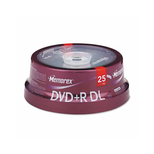 Memorex Dual - Layer DVD + R Discs, 25/Pack