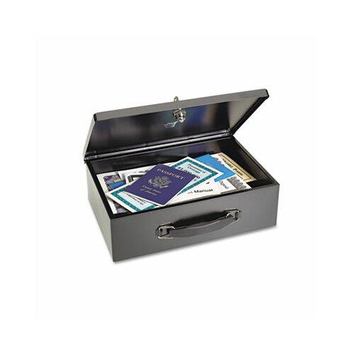 MMF Industries Steelmaster Heavy-Duty Steel Fire-Retardant Security Cash Box