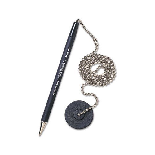 MMF Industries Secure-A-Pen Ballpoint Counter Pen with Base, Medium