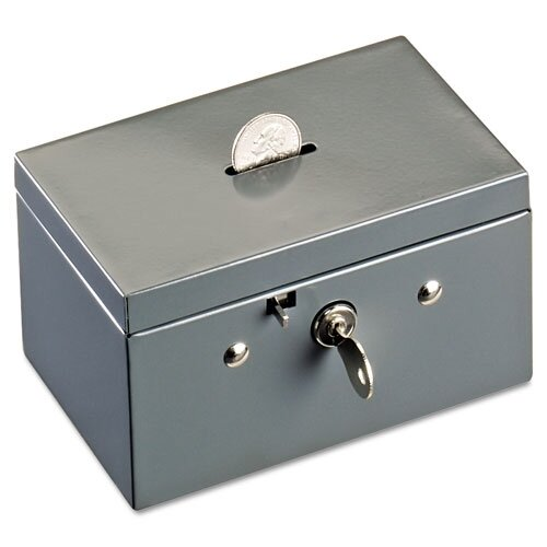 MMF Industries Steelmaster Small Cash Box with Coin Slot