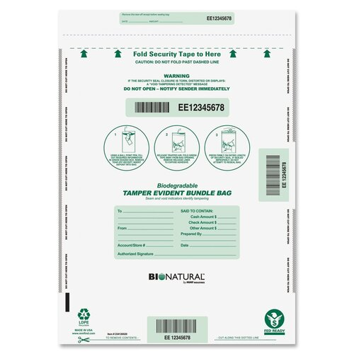 MMF Industries Bio Degradable Deposit Bags