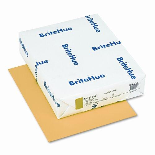 Mohawk Fine Papers Brite-Hue Color Copy/Laser/Inkjet Paper, Ultra Lime, 24lb, Letter, 500 Sheets