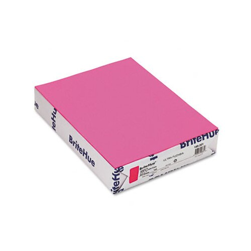 Mohawk Fine Papers Brite-Hue Color Copy/Laser/Inkjet Paper, Ultra Fuchsia, 20lb, Letter, 500 Sheets