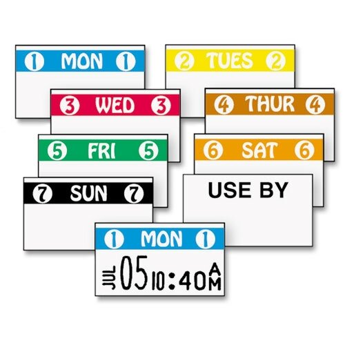 Monarch Marking Freshmarx Freezx Color Monday Coded Label, 2500 Labels/Roll