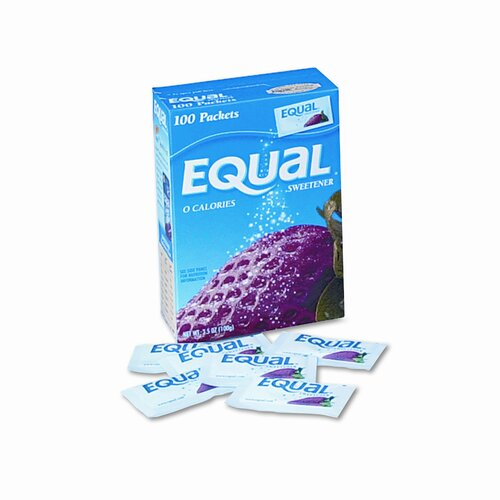 Office Snax Equal Sweetener Packet, 100/Box