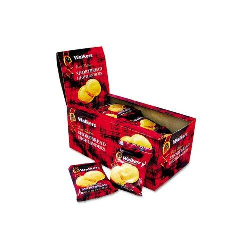 Office Snax Walker's Shortbread Highlander Cookies, 2-Pack, 12 Packs/Box