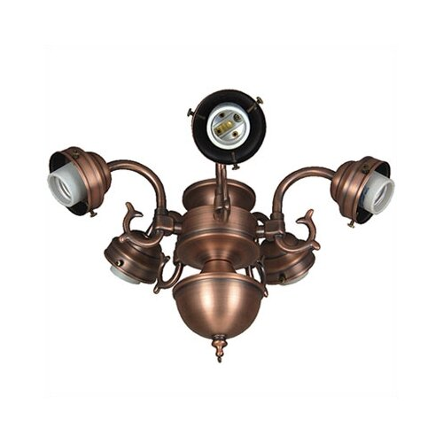 Craftmade Compact Fluorescent Decorative Scroll Ceiling Fan Light Fitter