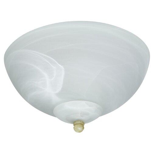 Craftmade 2 Light Budget Alabaster Bowl Ceiling Fan Light Kit