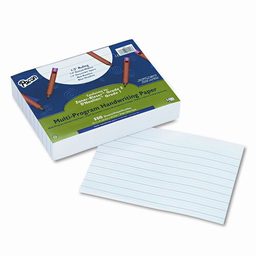 "Pacon Corporation Multi-Program Handwriting Paper, 0.5"" Long Rule, 500 Sheets/Pack"