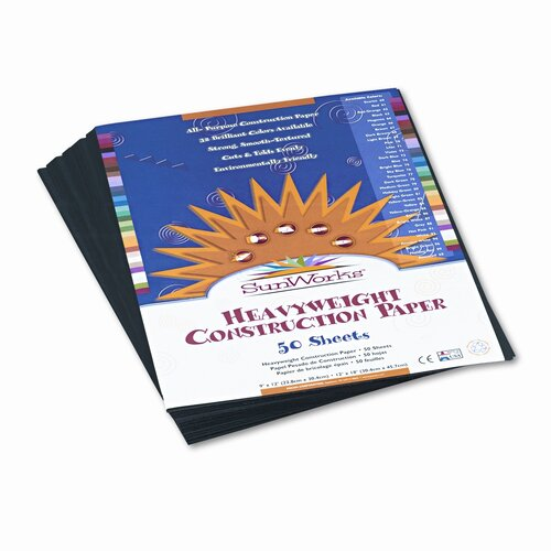 SunWorks® Construction Paper, 9 X 12, 50 Sheets