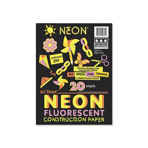 Pacon Corporation Neon Construction Paper/Pack