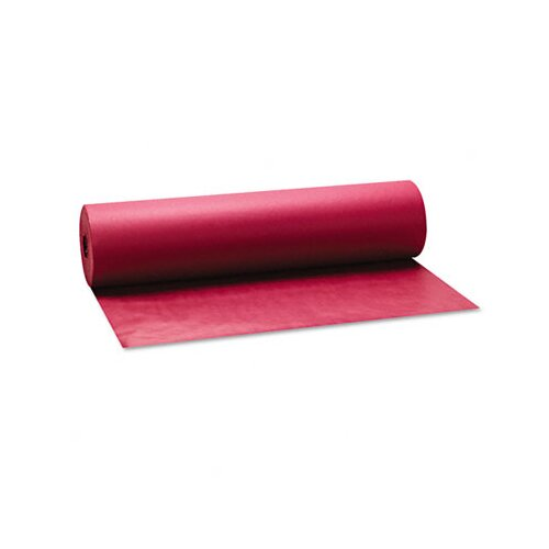 "Pacon Corporation Spectra ArtKraft Duo-Finish Paper, Heavyweight, 36"" x 1000' Roll, Crimson"