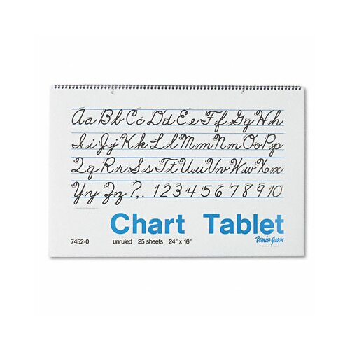 Pacon Corporation Chart Tablet, Unruled, 24 X 16, 25 Sheets/Pad
