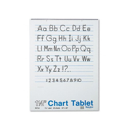 Pacon Corporation Chart Tablet with Manuscript Cover, Ruled, 25 Sheets/Pad