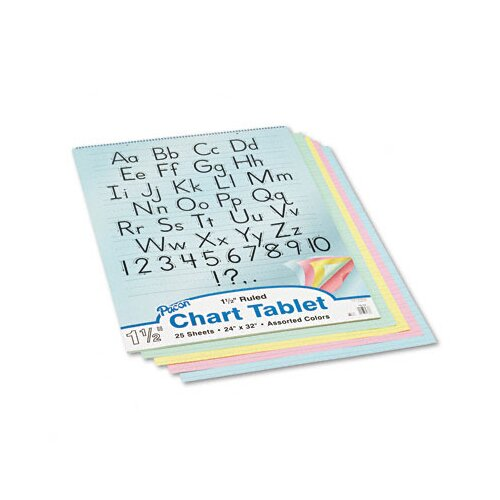 Pacon Corporation Chart Tablet, 25 Sheets/Pad