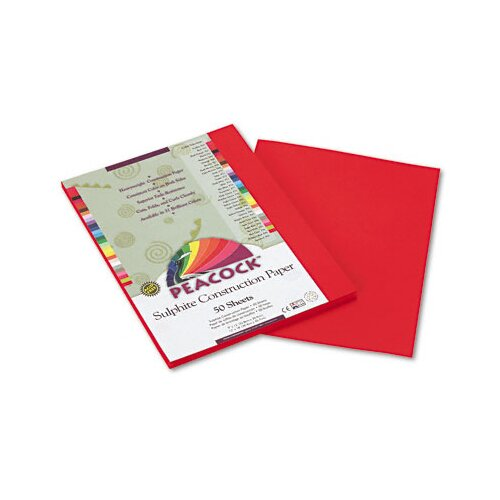 Pacon Corporation Peacock Sulphite Construction Paper, 9 x 12