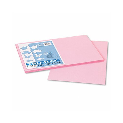 Pacon Corporation Tru-Ray Construction Paper, Sulphite, 12 x 18, Pink, 50 Sheets