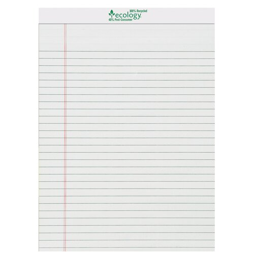 Pacon Corporation 72 Sheet Ecology Legal Pad