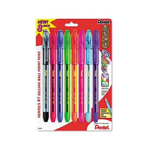 Pentel of America, Ltd. R.S.V.P. Ballpoint Stick Pen, 8/Pack