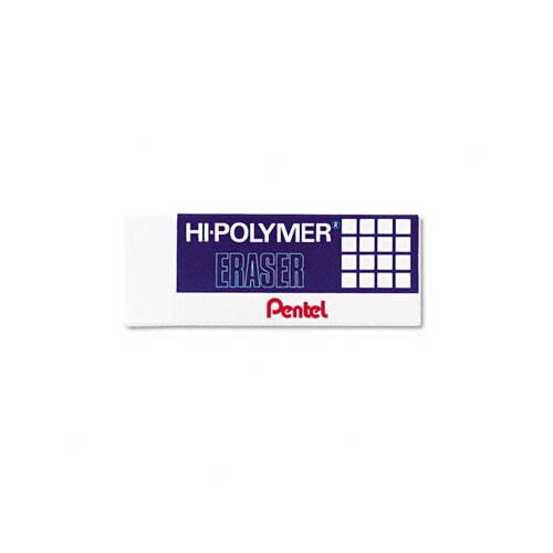 Pentel of America, Ltd. Hi-Polymer Block Eraser, 3/Pack