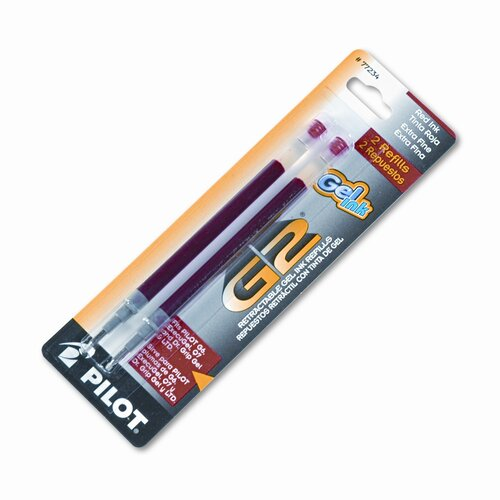 Pilot Pen Corporation of America Refill for G2 Gel, Dr. Grip Gel / Ltd, Execugel G6, Q7, Extra Fine, 2/Pack
