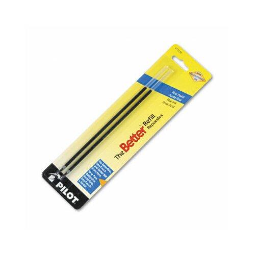Pilot Pen Corporation of America Refill, Non-Retract Better / Bettergrip / Easytouch Ballpoint, Fine, 2/Pack