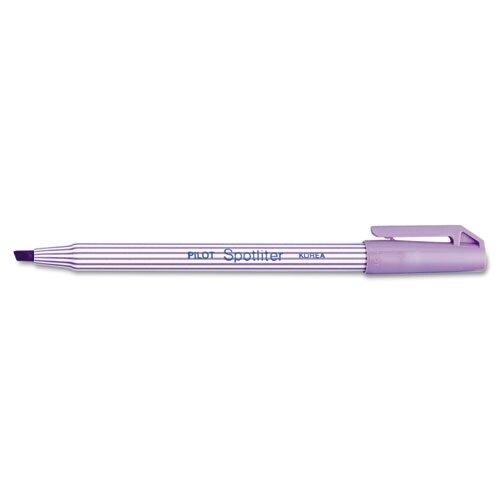 Pilot Pen Corporation of America Spotliter Highlighter, Chisel Point, Pocket Clip, Fluorescent Purple, 12/Pk