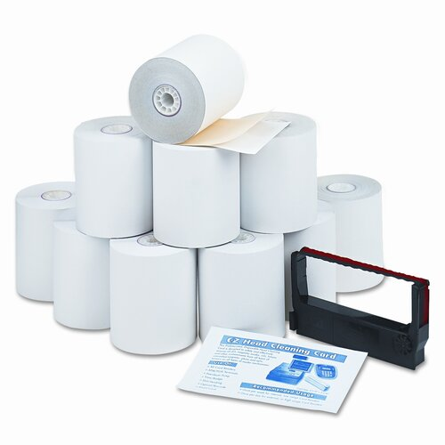 PM Company Paper Roll, Credit Verification Kit, 10/Carton