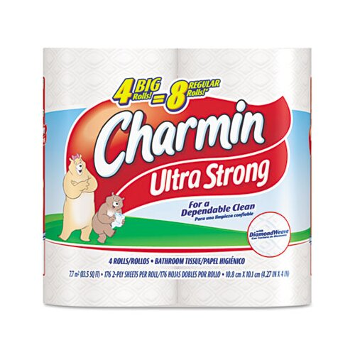 Procter & Gamble Commercial Charmin Ultra Soft Big Roll Bath Tissue, 4/Pack