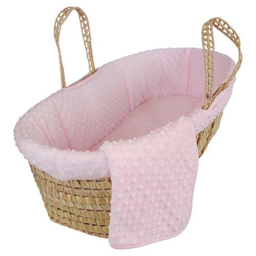 Tadpoles Tadpoles Dimple Velour Moses Basket Set