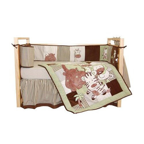 Tadpoles Jungle Spa 4 Piece Crib Bedding Set