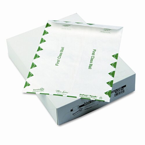 Quality Park Products Survivor Leather Tyvek Mailer, First Class, 100/Box