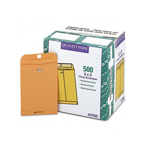 Quality Park Products Clasp Envelope, 6 x 9, 28lb., Light Brown, 500/carton