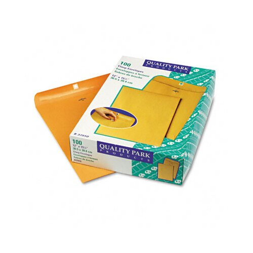 Quality Park Products Clasp Envelope, 12 X 15 1/2, 100/Box