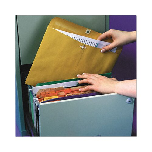 Quality Park Products Redi-File Clasp Envelope, 100/Box