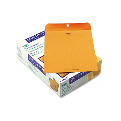 Quality Park Products Park Ridge Kraft Clasp Envelope, 100/Box