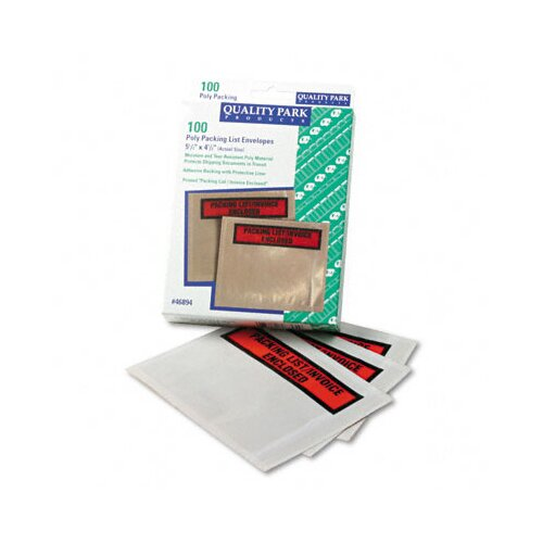 Quality Park Products Top-Print Self-Adhesive Packing List Envelope, 100/Box